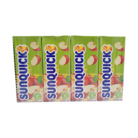 SUNQUICK Apple Fruity and Refreshing 200ml*4