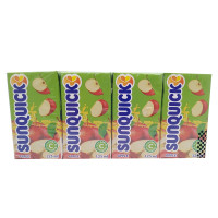 SUNQUICK Apple Fruity and Refreshing 125ml*4