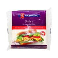 Emborg Processed Cheese Swiss Slice Emmentaler 200g