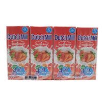 Dutch Mill Uht Drinking Yoghurt Strawberry Flavor 180ml*4