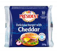 President Special Burger Processed Cheese 200g