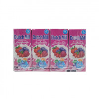 Dutch Mill Uht Drinking Yoghurt 4Mixed Berries  180ml*4