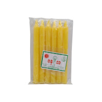 Sun & Moon Candle Yellow 6pcs 7inch